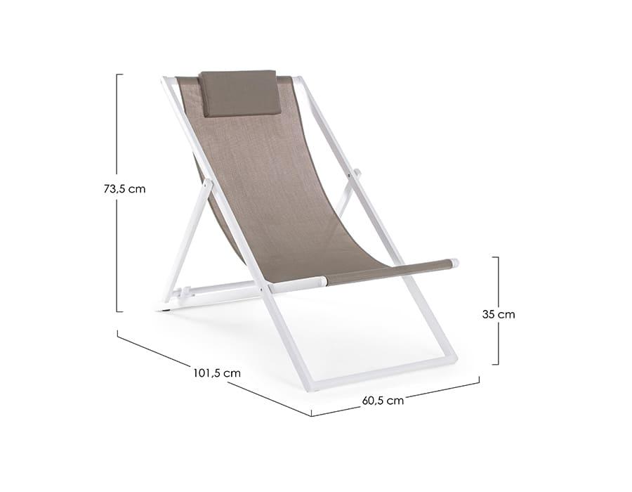 Zložljiv stol - ležalnik TAYLOR